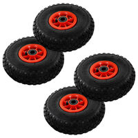 vidaXL Sack Truck Wheels 4 pcs Rubber 3.00-4 (260x85)