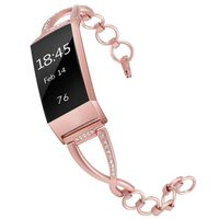 Fitbit Charge 3/4 bracelet stainless steel Rosépink (S)