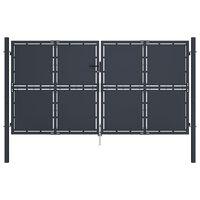 vidaXL Garden Gate Steel 300x175 cm Anthracite