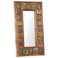vidaXL Mirror with Buddha Cladding 50x80 cm Solid Reclaimed Wood