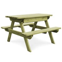 vidaXL Picnic Table with Benches 90x90x58 cm Impregnated Pinewood