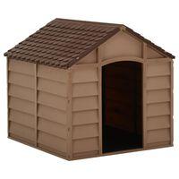 vidaXL Dog House Brown 71x71.5x68 cm PP