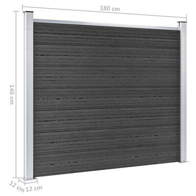 vidaXL Fence Panel Set WPC 699x146 cm Grey