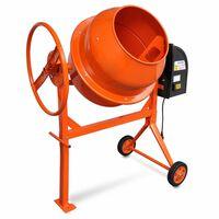 Concrete Mixer Cement Mixer 140 L 650 W Steel Orange