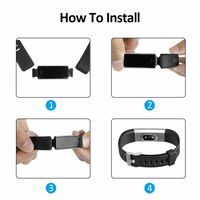 Replacement Wristband for fitness tracker BSC-D115PC-Black/grey