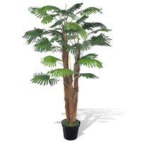 Artificial Fan Palm Tree with Pot 180 cm