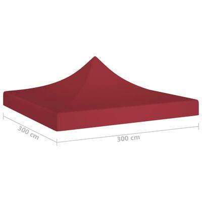 vidaXL Party Tent Roof 6x3 m Burgundy 270 g/m²