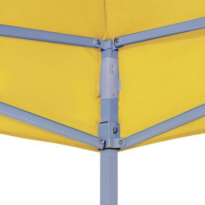 vidaXL Party Tent Roof 3x3 m Yellow 270 g/m²