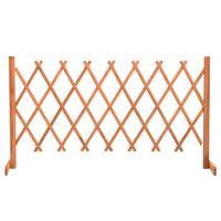 vidaXL Garden Trellis Fence Orange 150x80 cm Solid Firwood