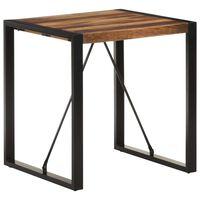 vidaXL Dining Table 70x70x75 cm Solid Acacia Wood with Sheesham Finish