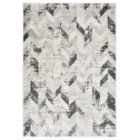 vidaXL Rug Grey and White 80x150 cm PP