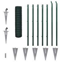 vidaXL Euro Fence Steel 10x1.2 m Green