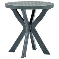 vidaXL Bistro Table Green Ø70 cm Plastic