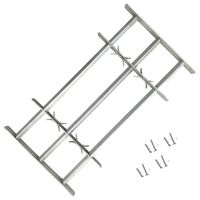 Adjustable Security Grille for Windows with 3 Crossbars 700-1050 mm