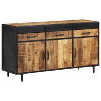 vidaXL Sideboard 140x40x75 cm Rough Mango Wood