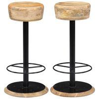 vidaXL Bar Chairs 2 pcs Solid Mango Wood