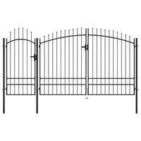 vidaXL Garden Gate Steel 2.45x4 m Black