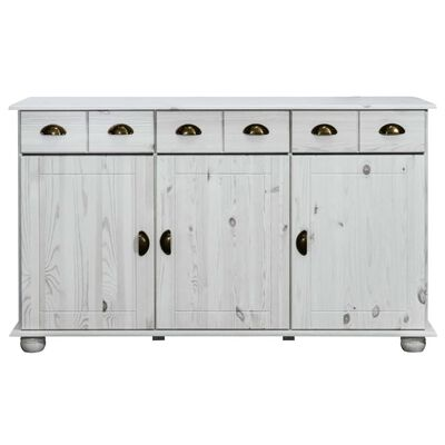 vidaXL Sideboard 134x39x79.5 cm Solid Pine Wood