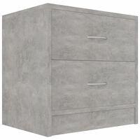 vidaXL Bedside Cabinet Concrete Grey 40x30x40 cm Chipboard
