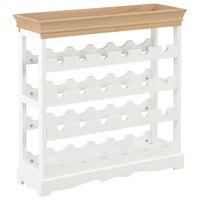 vidaXL Wine Cabinet White 70x22.5x70.5 cm MDF