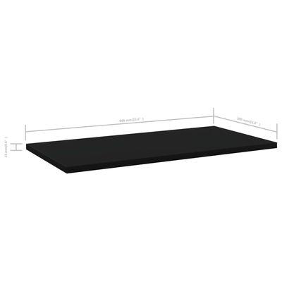 vidaXL Bookshelf Boards 4 pcs Black 60x30x1.5 cm Chipboard