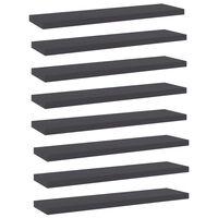 vidaXL Bookshelf Boards 8 pcs Grey 40x10x1.5 cm Chipboard