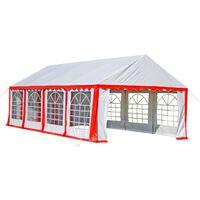 vidaXL Party Tent 8 x 4 m Red