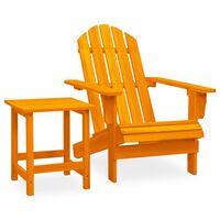 vidaXL Garden Adirondack Chair with Table Solid Fir Wood Orange