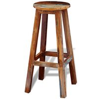 vidaXL Bar Stool Solid Reclaimed Wood