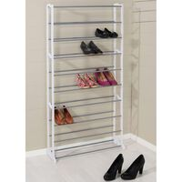 HI Shoes Rack Wave Shape for 40 Pairs White