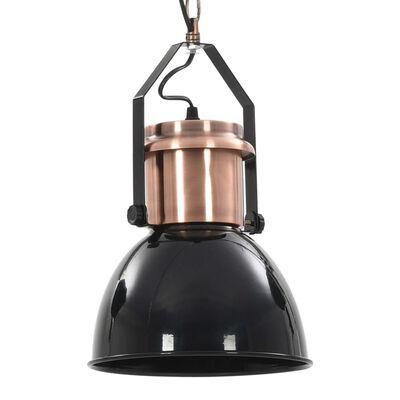 vidaXL Ceiling Lamp 2 pcs Black Round E27
