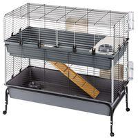 Ferplast Rabbit Cage Rabbit 120 Double with Stand 118x58x117 cm Grey