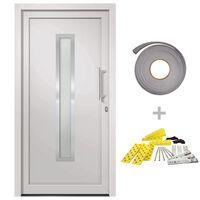 vidaXL Front Door White 98x190 cm