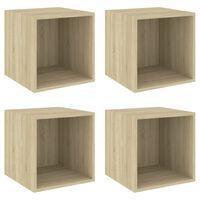 vidaXL Wall Cabinets 4 pcs Sonoma Oak 37x37x37 cm Chipboard