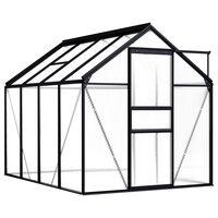 vidaXL Greenhouse Anthracite Aluminium 4.75 m²