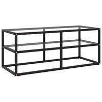 vidaXL TV Cabinet Black with Tempered Glass 100x40x40 cm