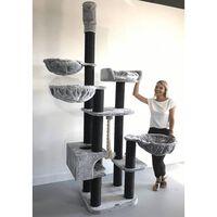 RHRQuality Cat Tree Catdream de Luxe Blackline Light Grey