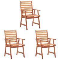 vidaXL Outdoor Dining Chairs 3 pcs Solid Acacia Wood