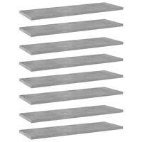 vidaXL Bookshelf Boards 8 pcs Concrete Grey 60x20x1.5 cm Chipboard