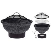 ProGarden Fire Bowl with BBQ Rack Black MGO