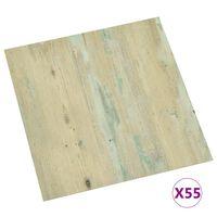 vidaXL Self-adhesive Flooring Planks 55 pcs PVC 5.11 m² Light Brown