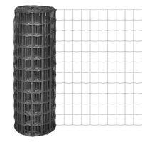 vidaXL Euro Fence Steel 25x1.2 m Grey