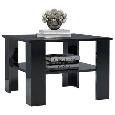 vidaXL Coffee Table High Gloss Black 60x60x42 cm Chipboard