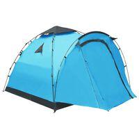 vidaXL Pop Up Camping Tent 3 Person Blue