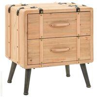 vidaXL Bedside Cabinet Solid Fir Wood 50x35x57 cm