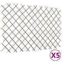 vidaXL Willow Trellis Fences 5 pcs 180x120 cm