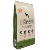 vidaXL Premium Dry Dog Food Maxi Adult Essence Beef & Chicken 15 kg