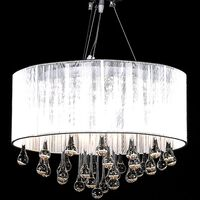 Chandelier with 85 Crystals White