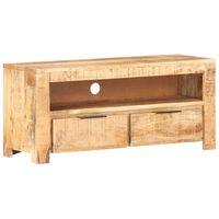 vidaXL TV Cabinet 90x30x40 cm Solid Rough Mango Wood