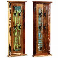 vidaXL Coat Racks 2 pcs Solid Reclaimed Wood 38x100 cm